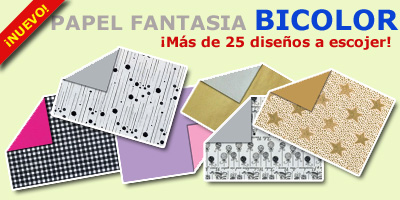 Diseños papel regalo fantasia bicolor
