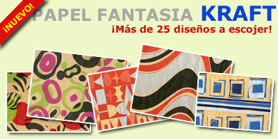 Diseños papel regalo kraft fantasia